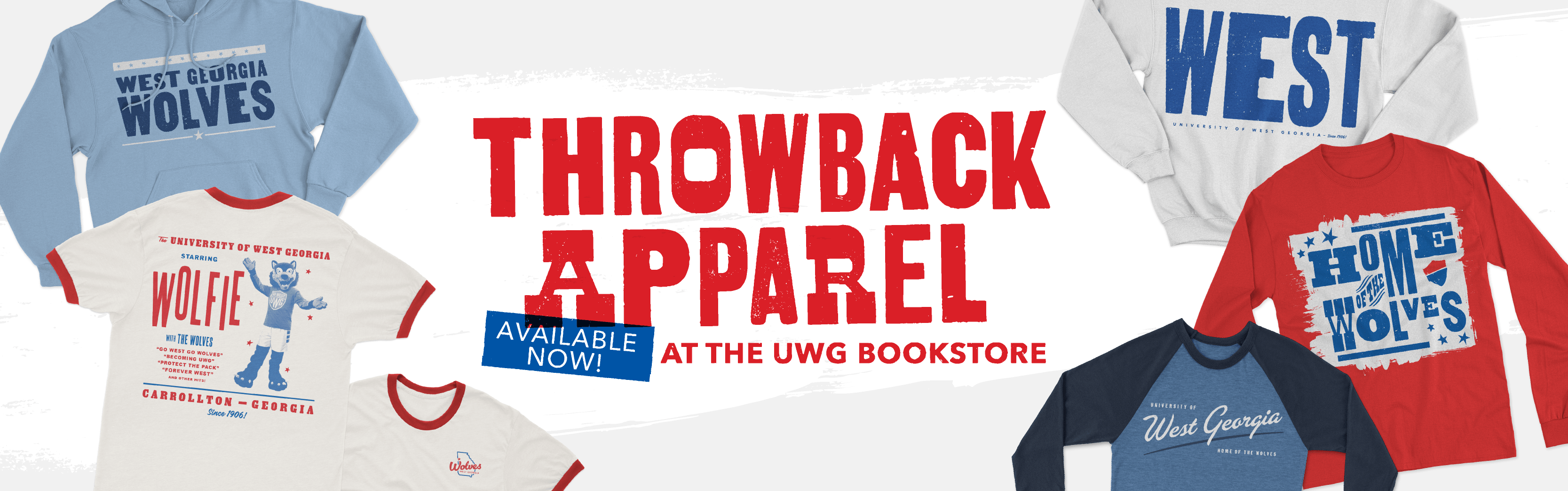The Throwback Apparel Collection is now available at the UWG Bookstore