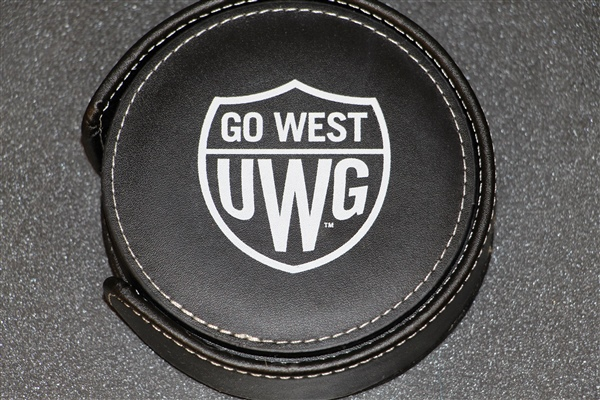 "Black  4 1/4""  Go West Emblem Coaster Set"