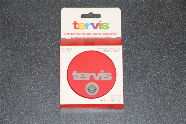 Tervis Straw Lid For 16 Oz. Red/Gray