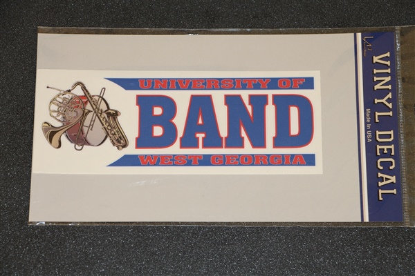 Univ West Ga Band Decal/Cling