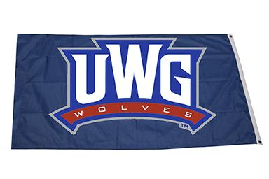 FLAG: 3 X 5 UWG WOLVES LOGO