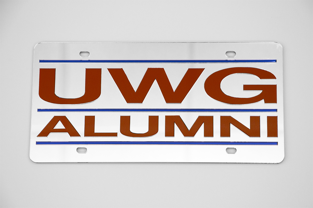 Uwg Alumni Laser Cut License Plate (SKU 11172178300)