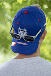 Sunglass Holder Wolf Logo Hat