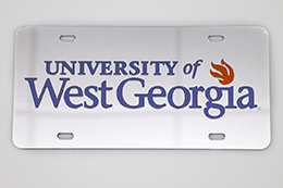 Laser Magic Mirrored University Of West Georgia Flame Car Tag