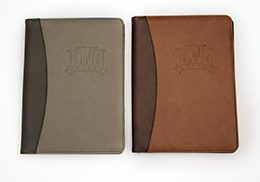 Two Tone Padfolio Debossed