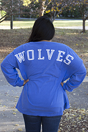UWG WOLVES DROPPED SHOULDER LS TEE
