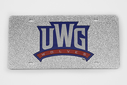 UWG Wolves Athlctic Logo License Plate