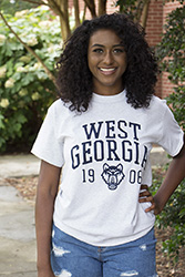 WEST GA WOLF HEAD 1906 DISTRESSED TEE