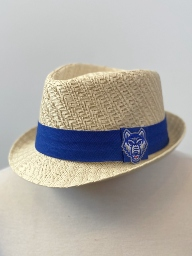 UWG Wolves Straw Fedora Hat