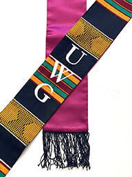 KENTE STOLE UWG EMBROIDERED