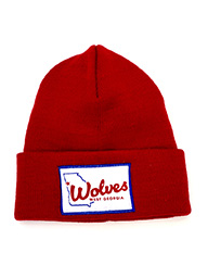 State Outline Wolves West Ga Patch Beanie Youth
